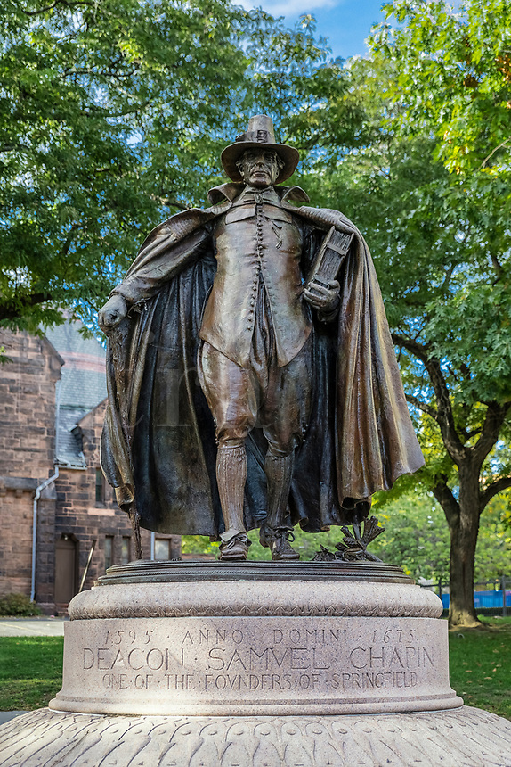 The Puritan Statue in Springfield Massachusetts, USA.
