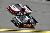#18: Christian Eckes, Kyle Busch Motorsports, Toyota Tundra Safelite AutoGlass, #24: Kris Wright, GMS Racing, Chevrolet Silverado