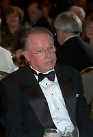 Nov 1, 2002, Montreal, Quebec, Canada<br /> <br /> Bernard Landry, Quebec Premier sit at the head table, during the gala night of the<br /> Association des Medecins de Langue Francaise du Canada<br />  (Canada's French Speaking Doctors' association) which celebrate it's 100 th anniversary,<br /> November 1st, 2002 in MontrÈal, CANADA<br /> <br /> Mandatory Credit: Photo by Pierre Roussel- Images Distribution. (©) Copyright 2002 by Pierre Roussel <br /> <br /> N