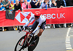 Nils Politt (GER) in action during the Men Elite Individual Time Trial of the UCI World Championships 2019 running 54km from Northallerton to Harrogate, England. 25th September 2019.<br /> Picture: Eoin Clarke | Cyclefile<br /> <br /> All photos usage must carry mandatory copyright credit (© Cyclefile | Eoin Clarke)
