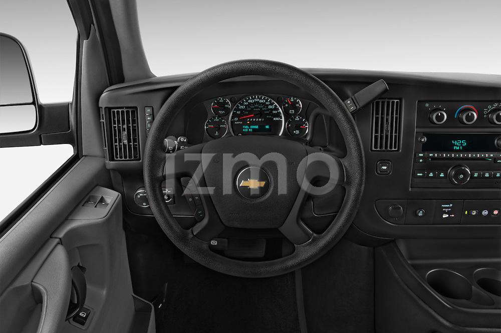 Car pictures of steering wheel view of a 2014 Chevrolet Express 2500 LS 2 Door Van