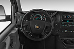 Car pictures of steering wheel view of a 2014 Chevrolet Express 2500 LS 2 Door Van