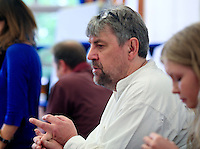 """Adam Forde, Director.  The Yvonne Arnaud Youth Theatre rehearsing """"The Lion, the Witch and the Wardrobe"""", Guildford, Surrey."""