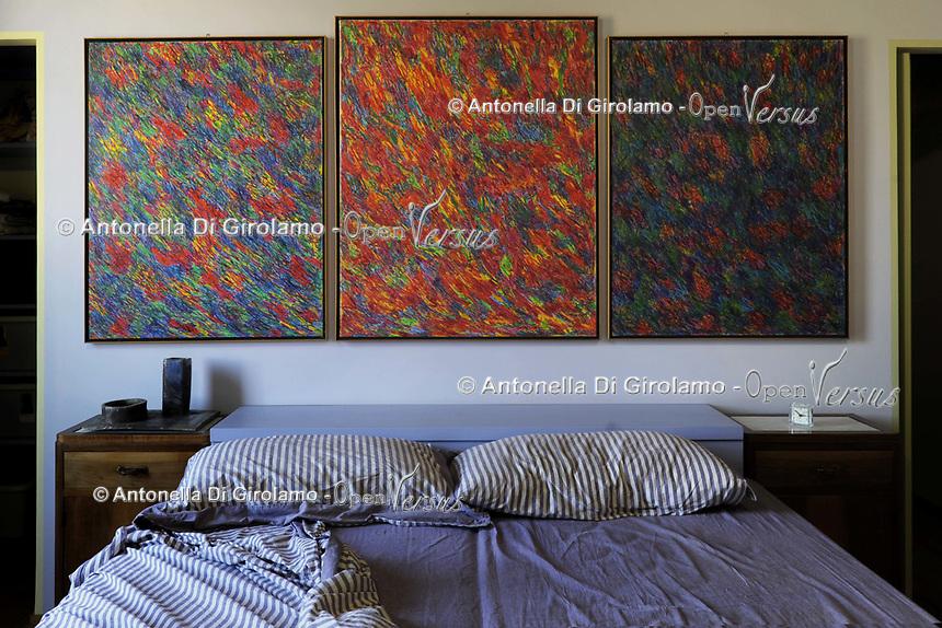 Quadri in affido<br /> Opere di Alberto Bardi nella casa di Riccardo Pieroni