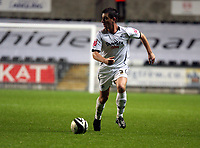 Pictured: Marcos Painter of Swansea City in action <br /> Re: Coca Cola Championship, Swansea City Football Club v Queens Park Rangers at the Liberty Stadium, Swansea, south Wales 21st October 2008.