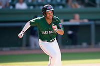 Third baseman Brandon Howlett (35) of the Greenville Drive in a game against the Asheville Tourists on Sunday, June 6, 2021, at Fluor Field at the West End in Greenville, South Carolina. (Tom Priddy/Four Seam Images)