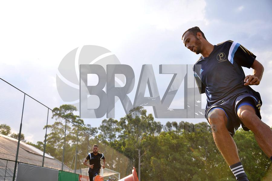 SÃO PAULO.SP. 19.01.2015 - PALMEIAS TREINO - Leandro Pereira atacante do Palmeiras durante o treino na Academia de Futebol zona oeste na tarde desta segunda feira 19. ( Foto: Bruno Ulivieri / Brazil Photo Press )