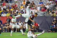 Glendale, AZ - Saturday June 25, 2016: Cristian Zapata, Michael Orozco during a Copa America Centenario third place match match between United States (USA) and Colombia (COL) at University of Phoenix Stadium.