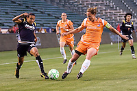 Sky Blue's Christie Rampone LA Sol's Marta chase down a ball. The LA Sol defeated Sky Blue FC 1-0 at Home Depot Center stadium in Carson, California on Friday May 15, 2009.   .