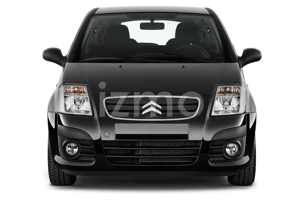 Straight front view of a 2008 - 2009 Citroen C2 VTR 3 Door Hatchback 2WD