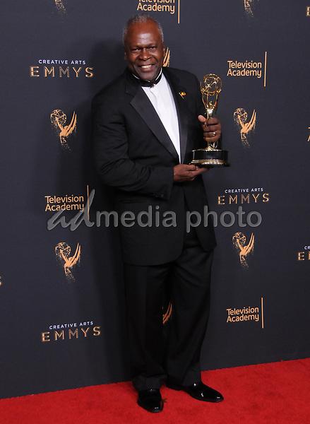 10 September  2017 - Los Angeles, California - Kim Estes. 2017 Creative Arts Emmys - Press Room held at Microsoft Theatre L.A. Live in Los Angeles. Photo Credit: Birdie Thompson/AdMedia