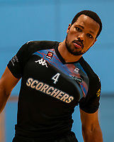 Lacey James of Surrey Scorchers during the BBL Championship match between Surrey Scorchers and Newcastle Eagles at Surrey Sports Park, Guildford, England on 20 March 2021. Photo by Liam McAvoy.
