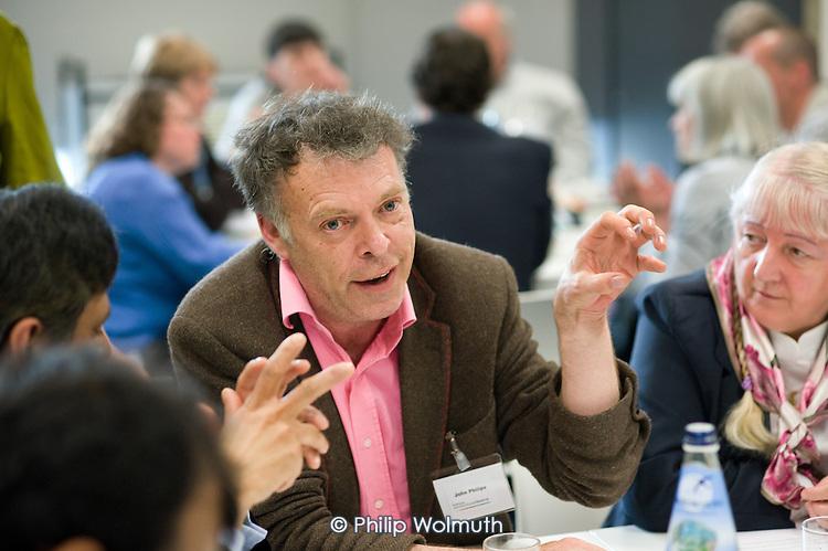 John Phillips, London Print Studio, at a workshop session, Paddington Community Conference, organised by Paddington Development Trust (PDT) at Westminster Academy.