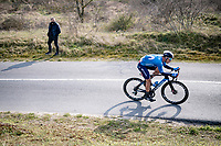 solo race leader Sebastián Mora (ESP/Movistar)<br /> <br /> 45th Oxyclean Classic Brugge-De Panne 2021 (ME/1.UWT)<br /> 1 day race from Bruges to De Panne (204km)<br /> <br /> ©kramon