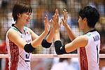 (L-R) Saori Kimura, Miyu Nagaoka (JPN), AUGUST 26, 2015 - Volleyball : FIVB Women's World Cup 2015 1st Round between Japan 3-0 Kenya  in Tokyo, Japan. (Photo by Sho Tamura/AFLO SPORT)