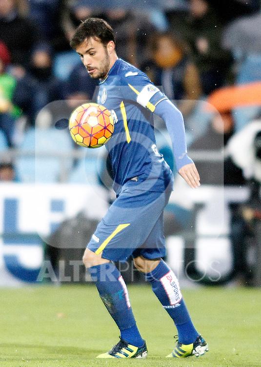 Getafe's Pedro Leon during La Liga match. February 14,2016. (ALTERPHOTOS/Acero)