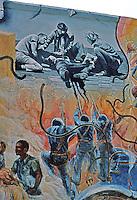 Berkeley CA,Berkeley Mural 4, Telegraph & Haste.  Photo '78.