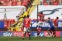 Wigan goalkeeper, David Marshall, fingertips the ball away for a corner to foil a Charlton attack during Charlton Athletic vs Wigan Athletic, Sky Bet EFL Championship Football at The Valley on 18th July 2020