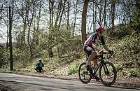Florian Vermeersch (BEL/Lotto Soudal) up the Trieu / Knokteberg<br /> <br /> 76th Dwars door Vlaanderen 2021 (MEN1.UWT)<br /> 1 day race from Roeselare to Waregem (184km)<br /> <br /> ©kramon