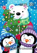 Janet, CHRISTMAS ANIMALS, WEIHNACHTEN TIERE, NAVIDAD ANIMALES, paintings+++++,USJS531,#xa# ,penguins ,icebear