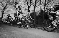 Fabian Cancellara (CHE/TrekFactoryRacing) racing next to Tyler Farrar (USA/Garmin-Sharp)<br /> <br /> Gent-Wevelgem 2014