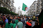 Algerian protesters march in an anti-government demonstration in the capital Algiers on SEPT. 20, 2019. Photo by Taher Boussoualim