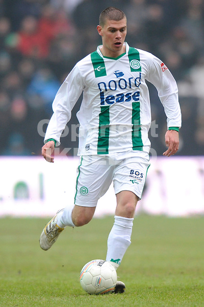 voetbal fc groningen - fc twente eredivisie seizoen 2009-2010 24-01-2010 danny holla