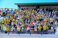 20200307  Lagos , Portugal : Swedish supporters pictured during the female football game between the national teams of Sweden and Denmark on the second matchday of the Algarve Cup 2020 , a prestigious friendly womensoccer tournament in Portugal , on saturday 7 th March 2020 in Lagos , Portugal . PHOTO SPORTPIX.BE | STIJN AUDOOREN