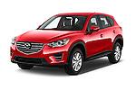2016 Mazda CX5 Premium Edition 5 Door SUV Angular Front stock photos of front three quarter view