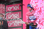 Joao Almeida (POR) Deceuninck-Quick Step takes over the race leaders Maglia Rosa at the end of Stage 3 of the 103rd edition of the Giro d'Italia 2020 running 150km from Enna to Etna (Linguaglossa-Piano Provenzana), Sicily, Italy. 5th October 2020.  <br /> Picture: LaPresse/Gian Mattia D'Alberto | Cyclefile<br /> <br /> All photos usage must carry mandatory copyright credit (© Cyclefile | LaPresse/Gian Mattia D'Alberto)