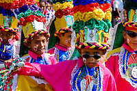 Colombian boys, performing Congo warriors, dance during the Carnival in Barranquilla, Colombia, 26 February 2006. The Carnival of Barranquilla is a unique festivity which takes place every year during February or March on the Caribbean coast of Colombia. A colourful mixture of the ancient African tribal dances and the Spanish music influence - cumbia, porro, mapale, puya, congo among others - hit for five days nearly all central streets of Barranquilla. Those traditions kept for centuries by Black African slaves have had the great impact on Colombian culture and Colombian society. In November 2003 the Carnival of Barranquilla was proclaimed as the Masterpiece of the Oral and Intangible Heritage of Humanity by UNESCO.