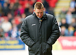 St Johnstone v Dundee Utd....21.04.12   SPL.A downcast Steve Lomas.Picture by Graeme Hart..Copyright Perthshire Picture Agency.Tel: 01738 623350  Mobile: 07990 594431