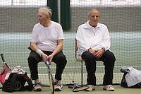 12-03-11, Tennis, Rotterdam, NOVK, Frans Hensen (L) en Hugo van Oordt