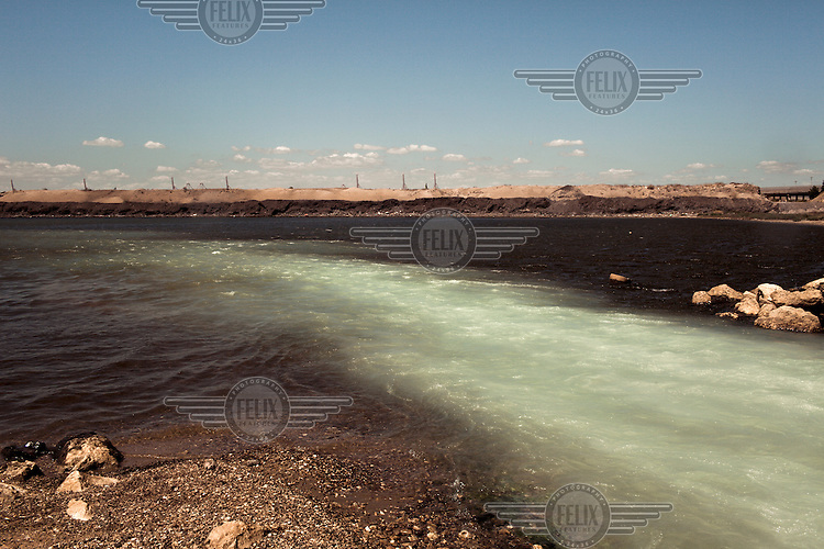 A run off of toxins from the Ilva steel plant goes into the Gulf of Taranto.