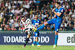 Tottenham Hotspur Forward Vincent Janssen (L) attempts a kick while being defended by SC Kitchee Defender Helio de Souza (R) during the Friendly match between Kitchee SC and Tottenham Hotspur FC at Hong Kong Stadium on May 26, 2017 in So Kon Po, Hong Kong. Photo by Man yuen Li  / Power Sport Images