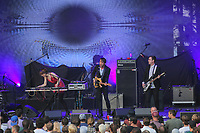 Operators performs at the Festival d'ete de Quebec (Quebec City Summer Festival) Monday July 13, 2015.