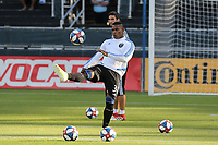 SAN JOSE, CA - AUGUST 24: Harold Cummings #31  of the San Jose Earthquakes prior to a Major League Soccer (MLS) match between the San Jose Earthquakes and the Vancouver Whitecaps FC  on August 24, 2019 at Avaya Stadium in San Jose, California.