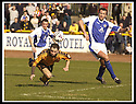 06/04/2002                 Copyright Pic : James Stewart .Ref :     .File Name : stewart-alloa v qos   02.ROSS HAMILTON DIVES LOW TO HEAD HOME ALLOA'S THIRD GOAL.......James Stewart Photo Agency, 19 Carronlea Drive, Falkirk. FK2 8DN      Vat Reg No. 607 6932 25.Office     : +44 (0)1324 570906     .Mobile  : + 44 (0)7721 416997.Fax         :  +44 (0)1324 630007.E-mail  :  jim@jspa.co.uk.If you require further information then contact Jim Stewart on any of the numbers above.........