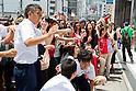 Justin Bieber Fans Outside Studio Alta in Shinjuku