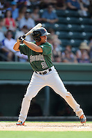 Right fielder Cristian Paulino (31) of the Augusta GreenJackets bats in a game against the Greenville Drive on Sunday, July 13, 2014, at Fluor Field at the West End in Greenville, South Carolina. Greenville won, 8-5. (Tom Priddy/Four Seam Images)