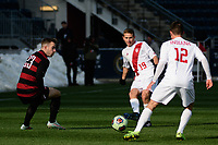 Chester, PA - Sunday December 10, 2017: Rece Buckmaster, Austin Panchot. Stanford University defeated Indiana University 1-0 in double overtime during the NCAA 2017 Men's College Cup championship match at Talen Energy Stadium.