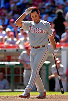23 September 2007: Philadelphia Phillies outfielder Pat Burrell in action against the Washington Nationals at Robert F. Kennedy Memorial Stadium in Washington, DC. The Nationals defeated the visiting Phillies 5-3 to close out the 2007 home season and the final game in baseball history at RFK Stadium. The Nationals will open up the 2008 season at Nationals Park, their new facility currently under construction.. .Mandatory Photo Credit: Ed Wolfstein Photo