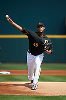 Pittsburgh Pirates starting pitcher Ivan Nova (46) delivers a pitch during a Grapefruit League Spring Training game against the New York Yankees on March 6, 2017 at LECOM Park in Bradenton, Florida.  Pittsburgh defeated New York 13-1.  (Mike Janes/Four Seam Images)