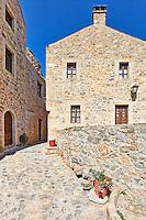 An alley in the Byzantine castle-town of Monemvasia in Greece
