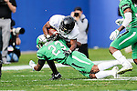 NNorth Texas Mean Green defensive back Kishawn McClain (23) in action during the Zaxby's Heart of Dallas Bowl game between the Army Black Knights and the North Texas Mean Green at the Cotton Bowl Stadium in Dallas, Texas.