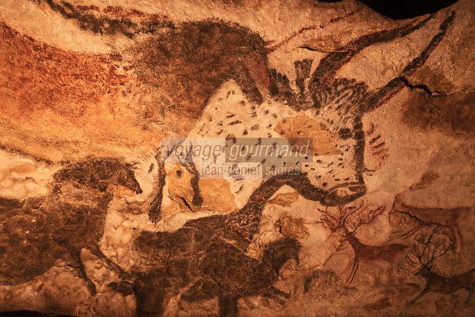 Europe/France/Aquitaine/24/Dordogne/Périgord Noir/Montignac: Grotte de Lascaux II - Grottes ornée  paléolithique - Taureau [Non destiné à un usage publicitaire - Not intended for an advertising use]