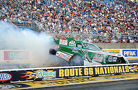 Jul, 8, 2011; Joliet, IL, USA: NHRA funny car driver John Force during qualifying for the Route 66 Nationals at Route 66 Raceway. Mandatory Credit: Mark J. Rebilas-