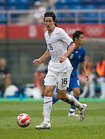 Sacha Kjlestan. The US defeated Japan, 1-0, during first round play in group B at the 2008 Beijing Olympics in Tianjin, China.
