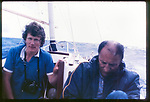 Homer Sykes and Peter Martin  in the Azores for You the Mail on Sunday magazine. Article on Michael Spring disabled sailor solo voyage to the Azores and return. 1983 1980s.
