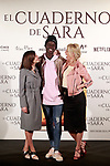 Spanish the actors Belén Rueda (r), Marian Álvarez (l) and Ivan Mendes during the photocall of presentation of the film 'El cuaderno de Sara'. January 30, 2018. (ALTERPHOTOS/Acero)